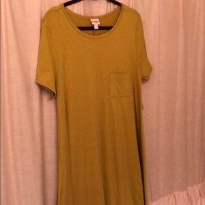 Mustard yellow Lularoe Carly dress
